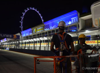 Singapore Grand Prix 2017 - Projectors installation