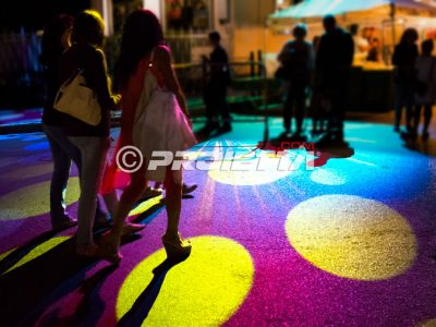 projection on floor