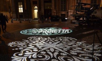 Decorative floor projections