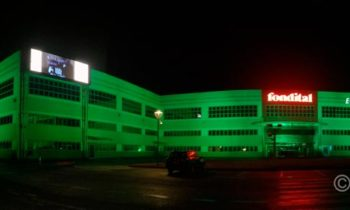 Decorative projections on industrial buildings