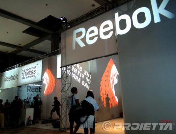 Reebok booth at the fitness fair in Rimini