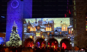 Video mapping Como Broletto