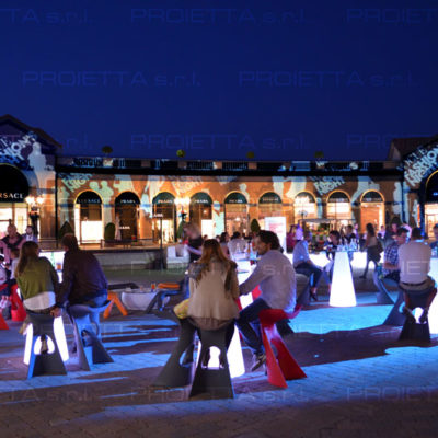 Serravalle Outlet – Christmas projections