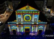 Top view of the video mapping