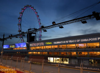 Grand Prix Singapore 2017: Pit Building Scenography