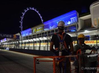 Singapore Grand Prix 2017 - Projectors installation
