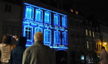 Besancon video mapping inaugurazione Maison Hugo