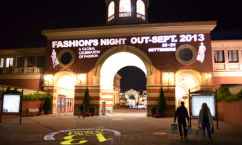 Serravalle Outlet Village Fashion Night projection