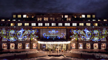 projection-in-Moscow – Luxury mall Tsum