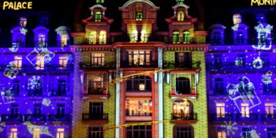 Christmas video mapping – Montreux Palace Hotel – Switzerland