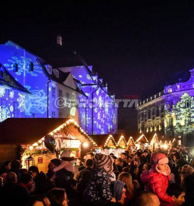 Sibiu Romania – Christmas projectors