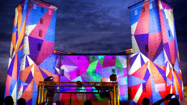 Acaja's castle – videomapping and architectural projections