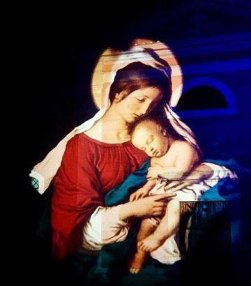 Proiezione madonna con bambino