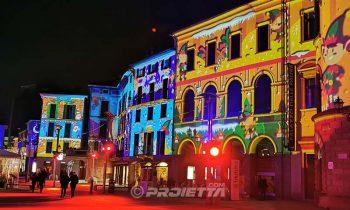 Proiezioni natalizie a Lecco