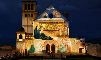 Mapping projection - Holy family - Assisi Italy